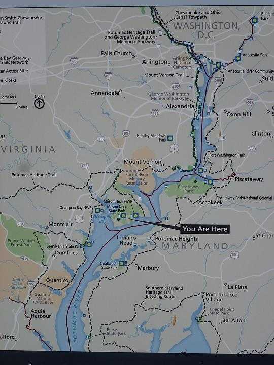 Image: CopyrightHorseHints.org/Mason Neck State Park, VA/Location Map